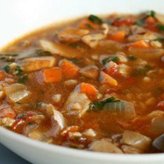 Porcini Mushroom & Farro Soup