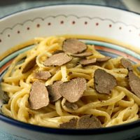 Pasta With White Truffle Carbonara