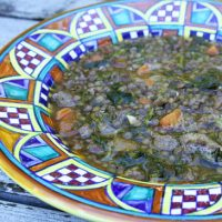 Lentil, Sausage & Broccoli Rabe Soup