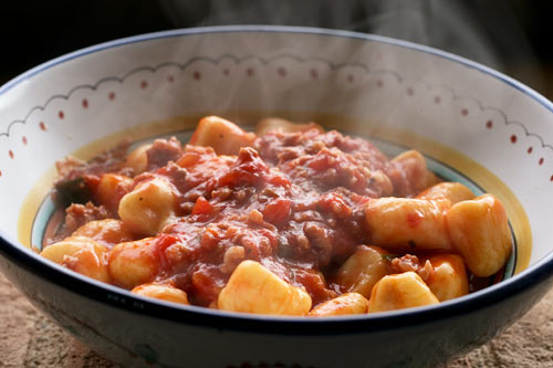A hearty meat ragu that can be prepared quickly though it tastes like it took hours.