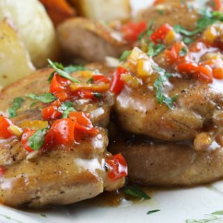 Chicken With Savory Orange Sauce