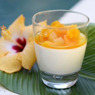 Yogurt Panna Cotta With Apricots