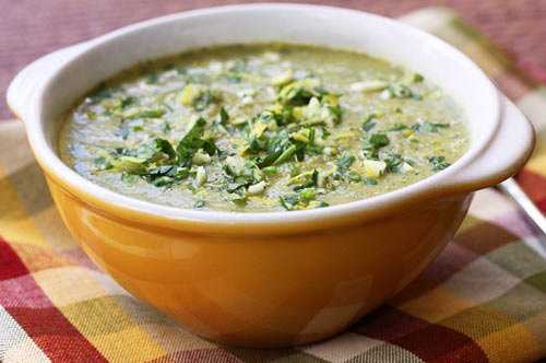 This broccoli soup is filling and delicious, and in fact tastes creamy but has no added dairy.