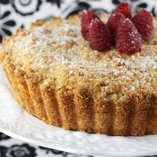 Almond Cake With Ricotta, Date & Chocolate Filling