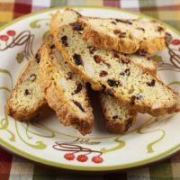 Polenta Dried Cranberry Biscotti
