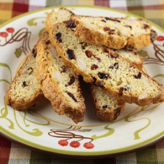 Polenta Dried Cranberry Biscotti