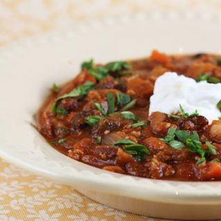 Italian Style Three Bean Turkey Stew