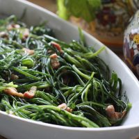 Agretti Sautéed With Pancetta