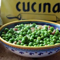 Spring Peas With Onions And Pancetta