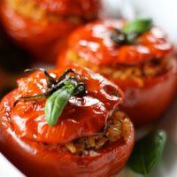 Risotto Stuffed Tomatoes