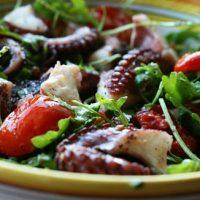 Octopus Salad With Arugula & Tomatoes