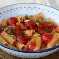 Pasta Amatriciana With Cherry Tomatoes