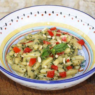 Cavatelli With Creamy Pesto Sauce
