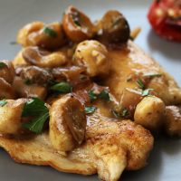 Turkey Cutlets With Porcini Mushrooms