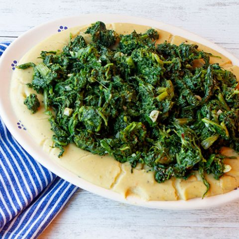 Fava Bean Puree With Sautéed Cicoria
