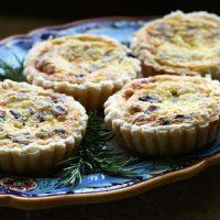 Caramelized Onion, Pancetta & Gorgonzola Mini Quiche