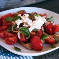 Tomato Bread Salad With Burrata And Nduja