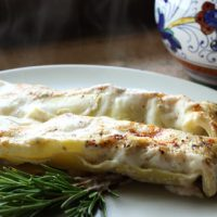Veal And Porcini Mushroom Cannelloni