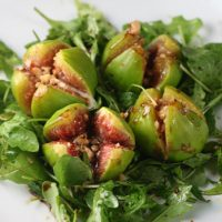 Grilled Gorgonzola Figs With Honey, Balsamic Dressing