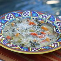 Vegetable Soup With Eggs And Cheese