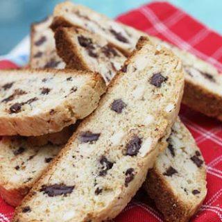 Dark Chocolate Chunk Almond Biscotti