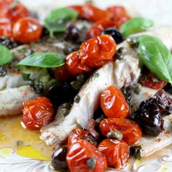 Tilapia With Roasted Tomatoes Capers Amp Olives Italian
