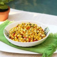 Sweet Corn With Peppers And Onions