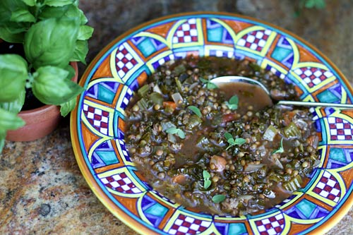 Kale, lentils, and turkey sausage are a winning and nutritious combination in this tasty soup.