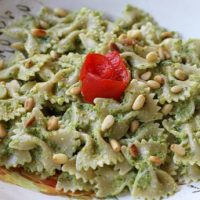Farfalle Pasta with Broccoli Pesto