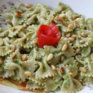 Farfalle Pasta with Broccoli Pesto