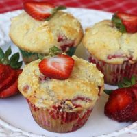 Strawberry Orange Buttermilk Muffins