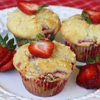 Strawberry Orange Buttermilk Muffins