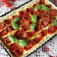Roasted Tomato Tart With Olive Oil Crust