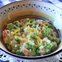 Risotto With Fava Beans & Candied Lemon
