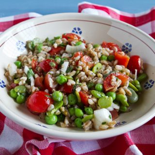 Farro Salad With Peas And Fava Beans