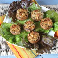 Stuffed Mushrooms With Ricotta Surprise