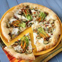 Zucchini & Zucchini Flower Pizza