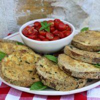 Eggplant Steaks With Tomato Salad