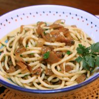 Pasta With Onions & Guanciale