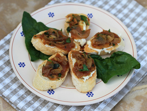 A great combinations of flavors on these tasty bruschetta.