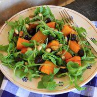 Roasted Pumpkin, Arugula, & Dried Cherry Salad