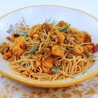 Spaghetti With Sausage & Squash