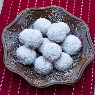 Mocha Snowball Cookies