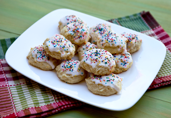 Tender, soft pillow cookies finished with a light lemon flavored glazed.