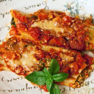 Spinach Ricotta Manicotti
