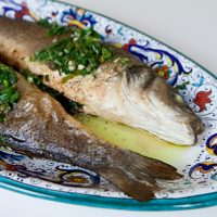 Roasted Whole Fish With Green Sauce