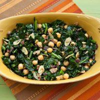 Sautéed Kale With Beans & Pancetta