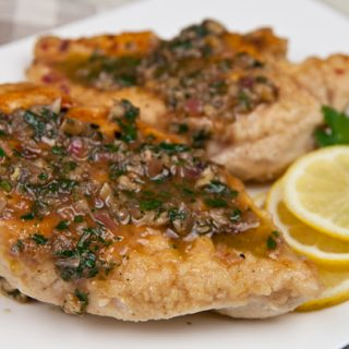 Chicken With Lemon & Walnuts