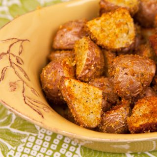 Crispy Crumb Coated Roasted Potatoes