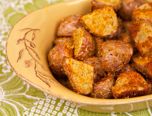 Golden brown and crispy outside, these tender potatoes make a great side dish for roasted or grilled meats.